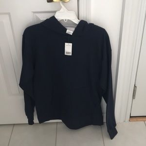 New Hanes Men's hooded navy sweat shirt